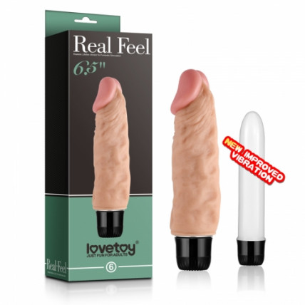 Реалістичний вібратор - Real Feel Vibrator 5 Flesh 6.5''
