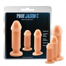 Анальні пробки - Prof. Jason C Anal Dildo Kit Penis