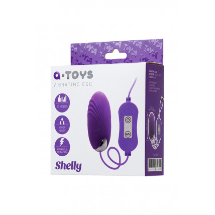Віброяйце з пультом управління Toyfa A-Toys Shelly, силікон, фіолетовий