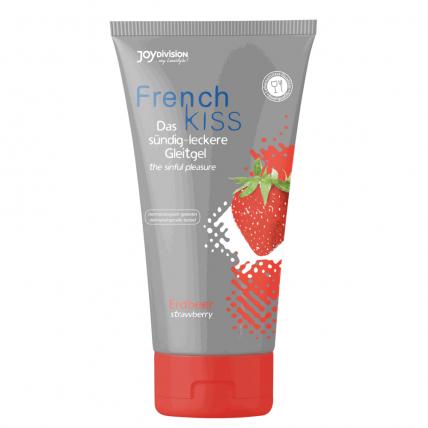 Оральний лубрикант - FrenchKiss Strawberry (полуниця), 75 мл