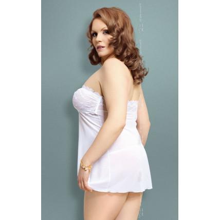 Пеньюар - Tanya, Plus Size, білий