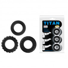Ерекційні кільця - Titan Cock Ring Set Blue