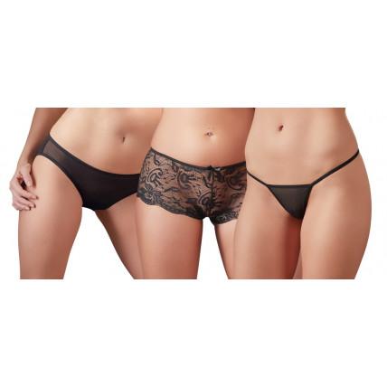 Набір трусиків - Cotelli Collection 2310503 Panty Set, black