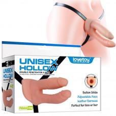 Страпон порожнистий для подвійного проникнення - Unisex Hollow Double Penetrator