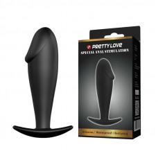Анальна пробка - Pretty Love Anal Butt Plug Penis Shaped Black