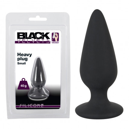 Анальна пробка - Black Velvets Heavy Plug Small