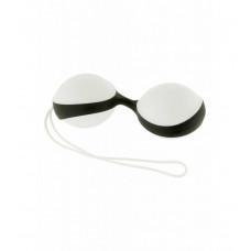 Вагінальні кульки - Amor Gym Balls, білий / чорний