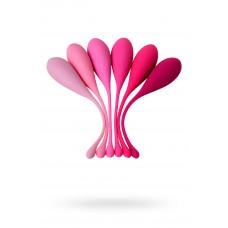 Набір вагінальних кульок Eromantica K-Rose, силікон, рожевий, 6 шт.