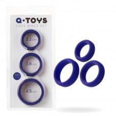 Ерекційне кільце на пеніс Toyfa A-Toys, силікон, фіолетовий, ø4,5 / 3,8 / 3,2 см