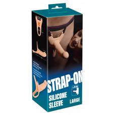 Чоловік страпон - Strap-On Silicone Sleeve Large