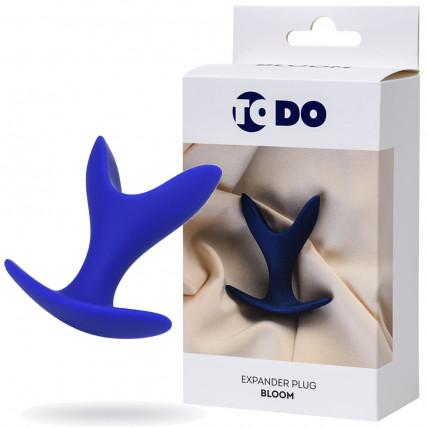 Розширює анальна пробка ToDo By Toyfa Bloom, силікон, синя, 8,5 см, ø 4,5 см
