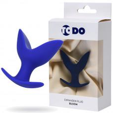 Розширює анальна пробка ToDo By Toyfa Bloom, силікон, синя, 9,5 см