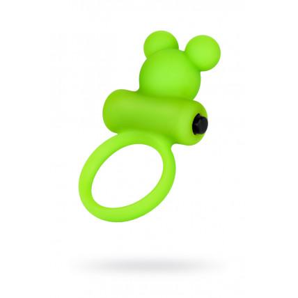 Віброкільце на пеніс A-Toys By Toyfa, силікон, зелене, ø 3,1 см