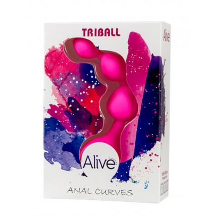 Анальні кульки - Triball Anal Curves Alive Pink